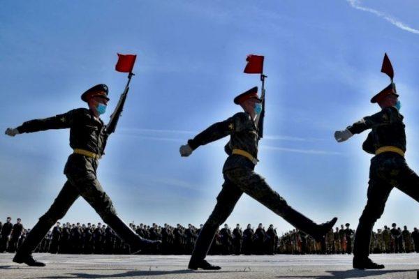 Հայկական զորախմբի քայլերթը՝ Մոսկվայի փողոցներում