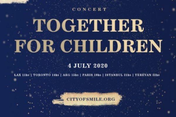 «Together for children» առցանց համերգ հայ արվեստագետների մասնակցությամբ